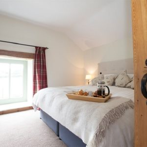 Beautiful bedroom at Gorgeous dog friendly cottages in Yorkshire. Manor Grange self catering cottages.