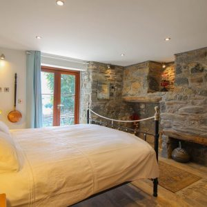 You'll have sweet dreams in this stunning bedroom in this Cornwall self catering holiday accommodation