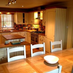 A beautiful kitchen at dog friendly cottages, Perthshire at Crieff Hydro Hotel & Spa.