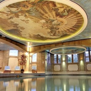 The Victorian swimming pool at Crieff Hydro Hotel & Spa. For use by hotel guests and self catering, dog friendly, accommodation guests.