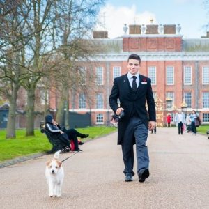 Let the Butler take your dog for a walk at a luxury dog friendly hotel, London.