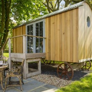 A quirky and very modern caravan holiday let