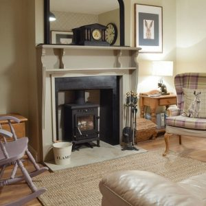 Traditional fireplace in Snaptrip self catering accommodation