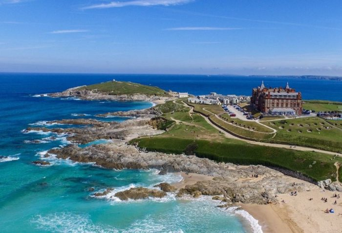 Stunning beaches are perfect for pets on the shores of the Headland Hotel, dog friendly hotel, Newquay.