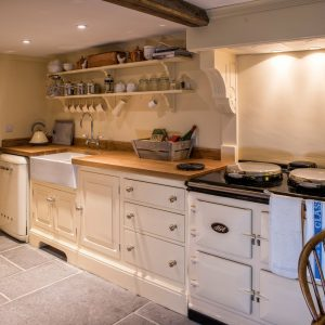 A holiday cottage kitchen in Dorset bursting with character