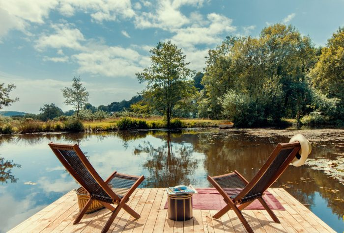 The peaceful lake at Well House, Dog Friendly Cottages Dorset