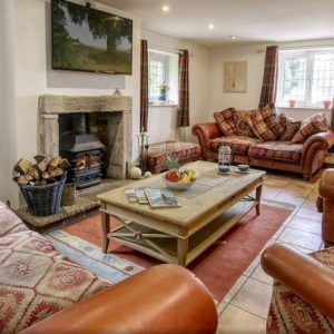The large, relaxing lounge at Barn Acre self catering holiday accommodation in Preston, Lancashire