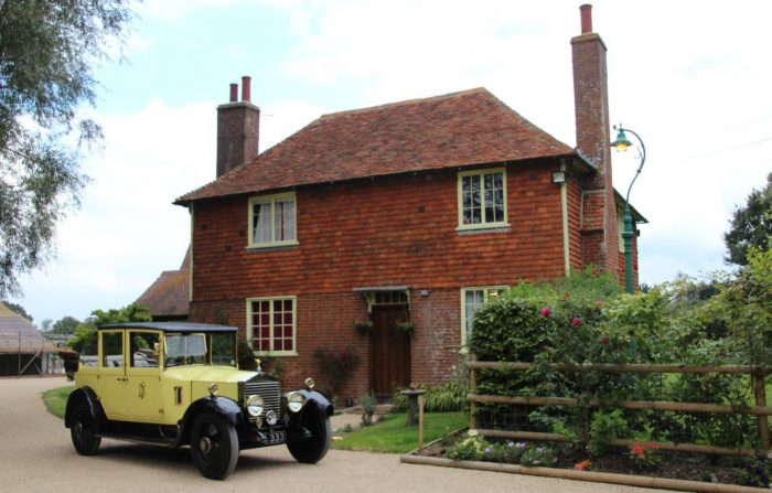 Travel in style in this yellow vintage at Darling Buds Holiday Cottage, Kent