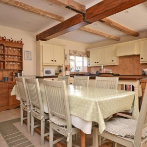 An inviting dining-kitchen area at New Forest self catering accommodation