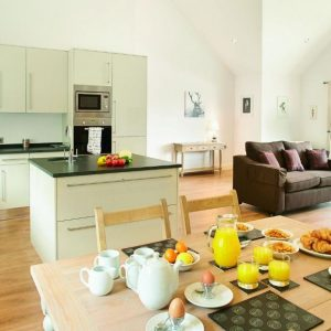 Spacious, open plan holiday lodge at Wakes Lodges, Essex