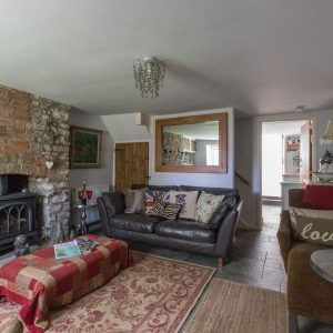 Characterful lounge at Dream Cottage dog friendly holiday cottage, Dorset