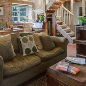 A cosy holiday cottage lounge in Dorset