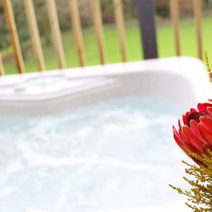Sink into a relaxing hot tub during stay at Flowery Dell holiday lodges in North Yorkshire