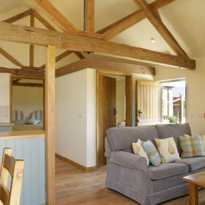 Stylish surrounds form this beautiful barn conversion with open plan living and dining area in Oxfordshire