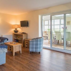 Clean and contemporary living space at Hispley Farm Self Catering Accommodation, Warwickshire.