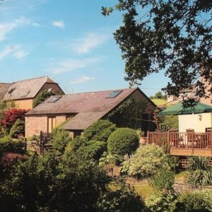 Great Gardens with Decking and plenty of grass for your dog to enjoy at Oatfield Country Cottages in the Forest of Dean