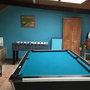 The pool room at Oatfield Holiday Cottages, Forest of Dean, Gloucestershire.