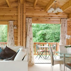 A spacious interior at South Winchester Self Catering Lodges, Hampshire