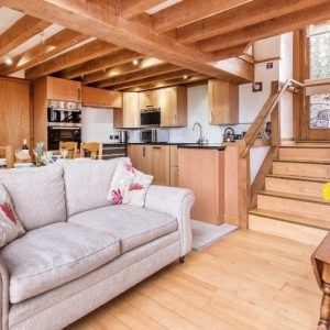 The beautiful contemporary, split level dog friendly holiday cottage at Thatch Close Farm Cottages, Heresfordshire