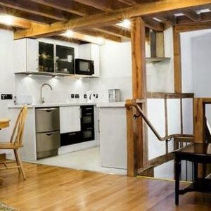 Enjoy mezzanine living at Thatch Close Farm, self catering accommodation Herefordshire
