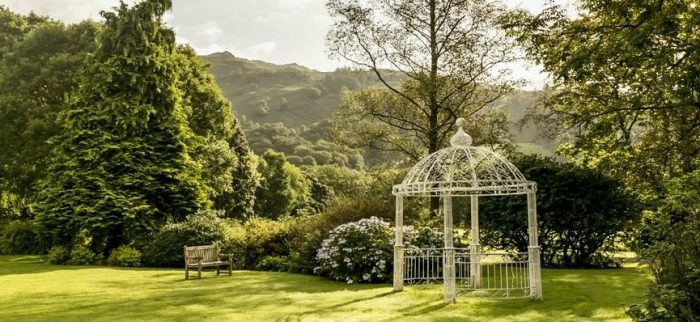 Your dog will love exploring the beautiful gardens at the dog friendly Wordsworth Hotel in the North West of England
