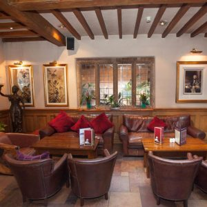 A welcoming bar at the Grosvenor Pulford Hotel Spa in the North West of England