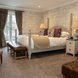 You'll have sweet dreams tucked up in this beautiful bed at Rothay Manor Hotel, North West England