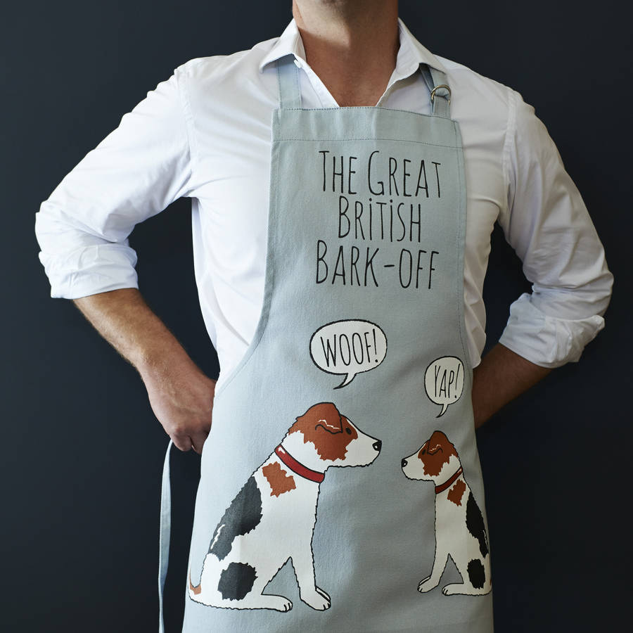 Great British Bark Off Stylish Dog Apron featuring a Jack Russell