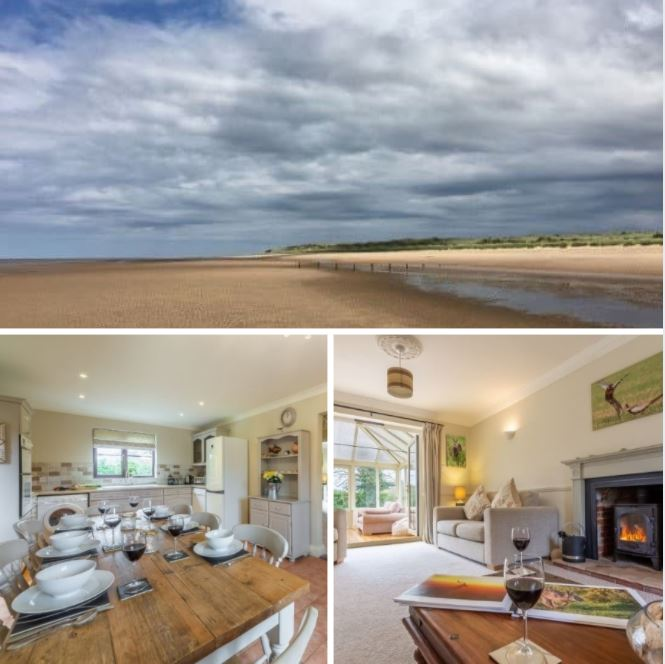 Saltmarshes Holme-next-the-Sea, beach front dog friendly cottage