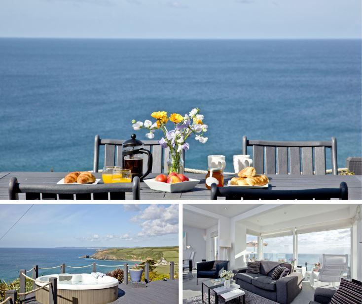 Sprindrift, PraaSands, Luxury coastal cottage Cornwall
